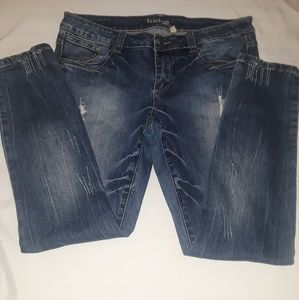 Bebe denim distressed jeans